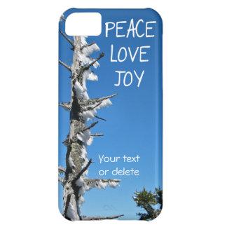 Árbol Spruce congelado alegría del amor de la paz Funda iPhone 5C