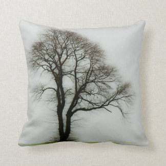Árbol suave del invierno cojín