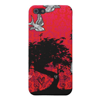 Árbol subió tatuaje de los bonsais del trago Iphon iPhone 5 Funda