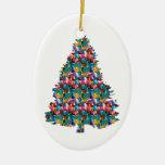 Árbol tachonado GEMA de Navidad:  Felices Navidad Ornamentos De Reyes Magos