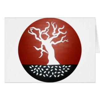 árbol tarjeta de felicitación