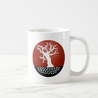 árbol taza básica blanca