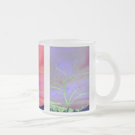 árbol taza de cristal