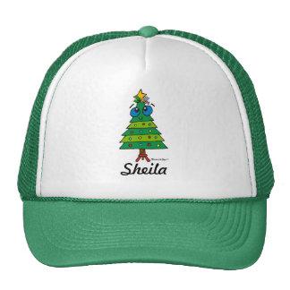 Árbol tonto del navidad gorras de camionero