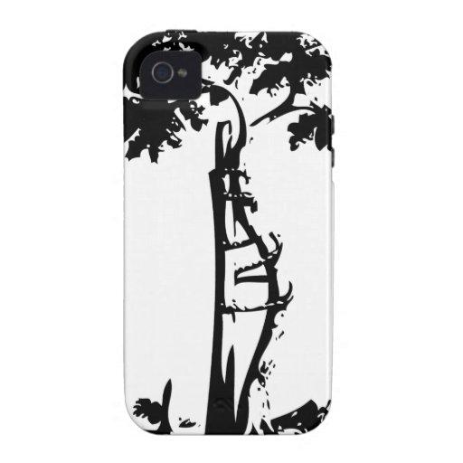 Árbol torcido ortopédico funda para iPhone 4