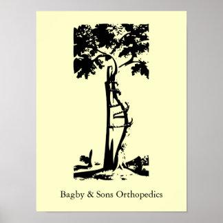 Árbol torcido ortopédico posters