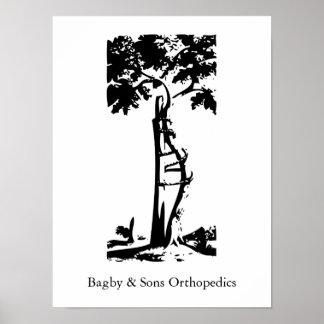 Árbol torcido ortopédico poster