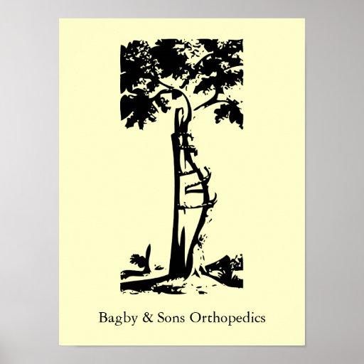 Árbol torcido ortopédico póster