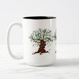 Árbol torcido tazas