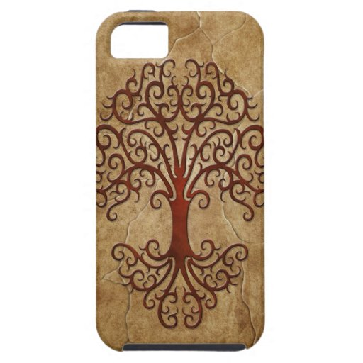 Árbol tribal de piedra iPhone 5 Case-Mate cobertura