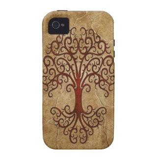 Árbol tribal de piedra vibe iPhone 4 funda