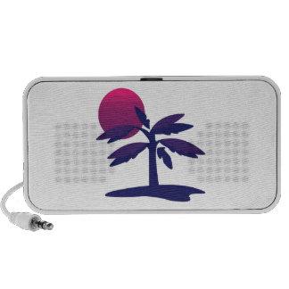 Árbol tropical laptop altavoces