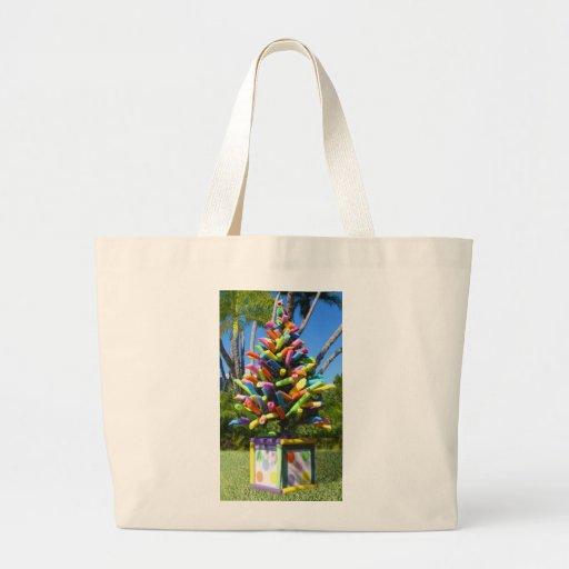 Árbol tropical de los tallarines bolsa de mano