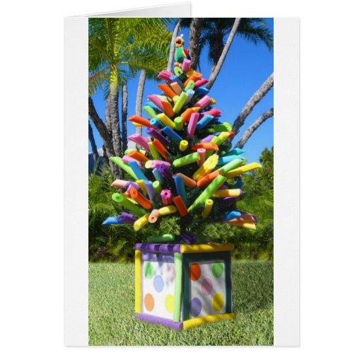 Árbol tropical de los tallarines felicitaciones