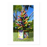 Árbol tropical de los tallarines postal