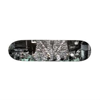 Árbol usado como decoración skate board