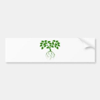 Árbol verde etiqueta de parachoque