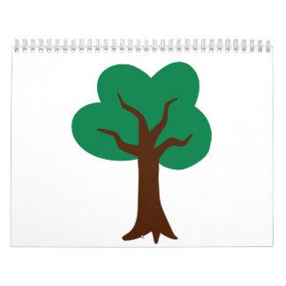 Árbol verde calendarios de pared