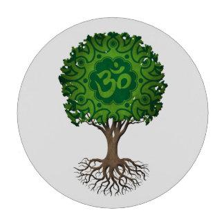 Árbol verde de OM de la yoga de la vida Juego De Fichas De Póquer