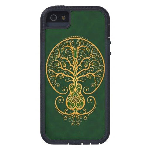 Árbol verde de oro de la guitarra de la vida funda para iPhone 5 tough xtreme