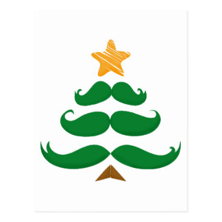 Árbol verde del bigote postal