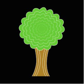 Árbol verde. En fondo negro Fotoescultura Vertical