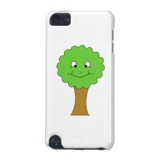 Árbol verde feliz lindo. En blanco Funda Para iPod Touch 5G