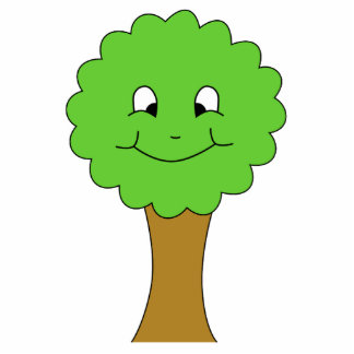 Árbol verde feliz lindo. En blanco Llavero Fotográfico