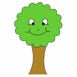 Árbol verde feliz lindo. En blanco Pin Fotoescultura