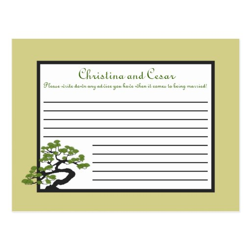 Árbol verde japonés Ol de los bonsais de la tarjet Tarjetas Postales