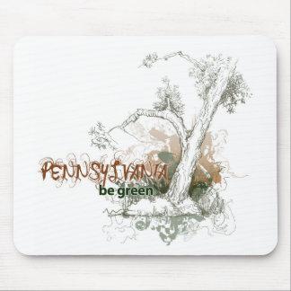 Árbol verde Mousepad de Pennsylvania Tapete De Raton