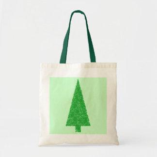 Árbol verde. Navidad, abeto, árbol imperecedero Bolsa Tela Barata