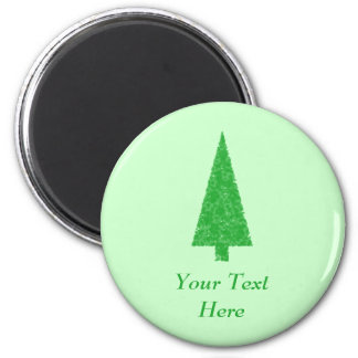 Árbol verde. Navidad, abeto, árbol imperecedero Imán Redondo 5 Cm