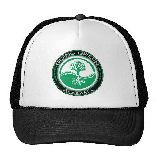 Árbol verde que va Alabama Gorra