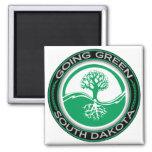 Árbol verde que va Dakota del Sur Imán Para Frigorífico
