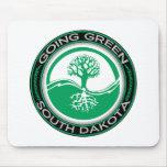 Árbol verde que va Dakota del Sur Alfombrilla De Ratones