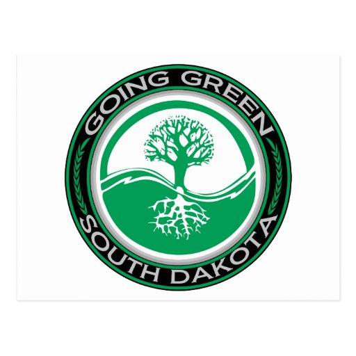 Árbol verde que va Dakota del Sur Tarjeta Postal