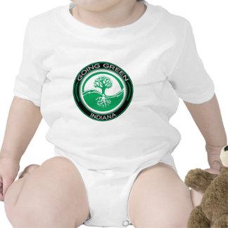 Árbol verde que va Indiana Camiseta