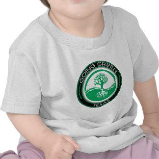 Árbol verde que va Tejas Camisetas