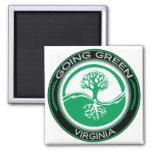 Árbol verde que va Virginia Imanes