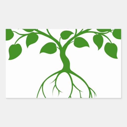 Árbol verde rectangular altavoz