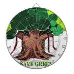 Árbol verde tablero dardos