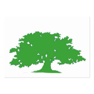 Árbol verde tarjetas de visita grandes