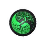 Árbol verde y negro de Yin Yang Frascos De Dulces