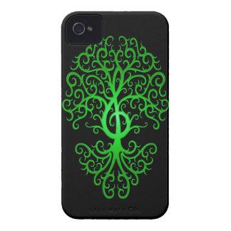 Árbol verde y negro del Clef agudo