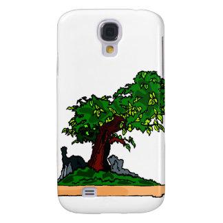 Árbol vertical de los bonsais de Penjing con la ro Funda Para Galaxy S4