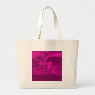 árbol violeta bolsa tela grande
