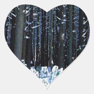 Árbol White Pine del este Pocono Pegatina Corazón Personalizadas
