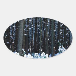 Árbol White Pine del este Pocono Colcomanias De Óval
