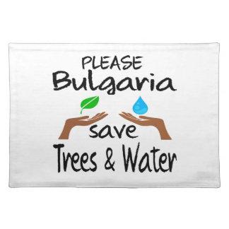 Árbol y agua de la reserva del PLZ Bulgaria Manteles